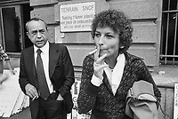 - the sicilian writer Leonardo Sciascia and Emma Bonino, leader of Italian Radical Party as European parliamentarians in Strasbourg (July 1979)....- lo scrittore siciliano Leonardo Sciascia ed Emma Bonino, leader del partito radicale Italiano, parlamentari europei a Strasburgo (luglio 1979)