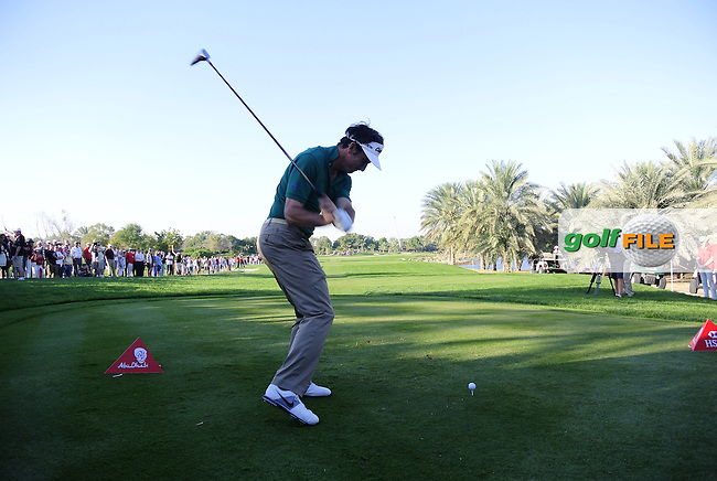 Gonzalo Fernandez-Castano (ESP) tees off the 18th tee during Saturday's Round 3 of the Abu Dhabi HSBC Golf Championship at Abu Dhabi Golf Club, 19th January 2013 .Photo Eoin Clarke/www.golffile.ie