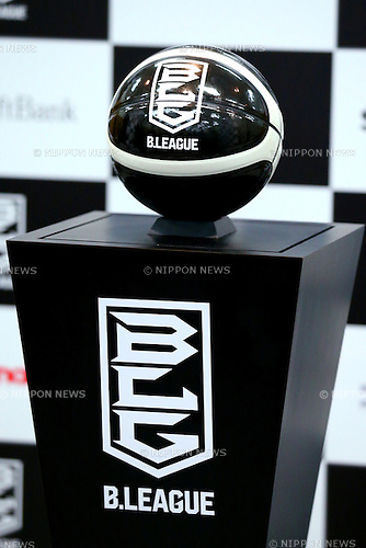 General view, <br /> JUNE 10, 2016 - Basketball : <br /> B.LEAGUE chairman Masaaki Okawa and players <br /> attend the press conference <br /> to announce the opening day and schedule of the 2016-2017 season in Tokyo, Japan. (Photo by AFLO SPORT)