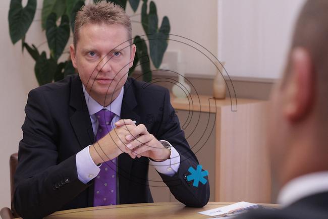 Christoph Kothe, Vorstand der VRB (Volks- und Raiffeisenbank) Leipzig. Foto: aif / Ines Christ