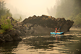 USA, Oregon, Wild and Scenic Rogue River in the Medford District, kayaking the Terraces
