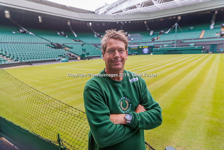 London, England, 30 th. June, 2019, Tennis,  Wimbledon, Coach Sven Groeneveld (NED)<br /> Photo: Henk Koster/tennisimages.com
