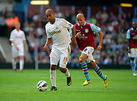 Saturday 15 September 2012<br /> Pictured: <br /> Re: Barclay's Premier League, Aston Villa v Swansea City FC at Villa Park, West Midlands, UK.