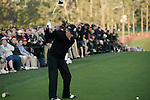 AUGUSTA, GA: APRIL 10 - Gary Player tees off the first tee during the first round of the 2014 Masters held in Augusta, GA at Augusta National Golf Club on Thursday, April 10, 2014. (Photo by Donald Miralle)