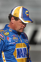Mar 30, 2007; Martinsville, VA, USA; Nascar Nextel Cup Series driver Michael Waltrip (55) reacts after falling to qualify for the Goody's Cool Orange 500 at Martinsville Speedway. Martinsville marks the second race for the new car of tomorrow. Mandatory Credit: Mark J. Rebilas