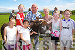 50th: Marking 50th anniversary Ballincrossig NS a family day was held  and one of the items on to mark the anniversary was a donkey derby on Sunday. L-r: Sarah and Molly O'Rourke, Tia Linh Dennehy, Tom Guerin, Patty Dennehy, Niamh Vivier and Emily O'Rourke.