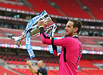 Huddersfield's Danny Ward celebrates getting promotion during the Championship Play-Off Final match at Wembley Stadium, London. Picture date: May 29th, 2017. Pic credit should read: David Klein/Sportimage