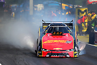 May 6, 2017; Commerce, GA, USA; NHRA funny car driver Courtney Force during qualifying for the Southern Nationals at Atlanta Dragway. Mandatory Credit: Mark J. Rebilas-USA TODAY Sports