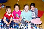 Callum Cox, Mia Cox, Reidin Brady and Rhea Kelleher at the Gaelscoil Faithleann cinema night in Killarney Sports Centre on Friday evening