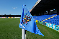 Corner flag ahead of  AFC Wimbledon vs Fleetwood Town, Sky Bet EFL League 1 Football at the Cherry Red Records Stadium on 8th February 2020