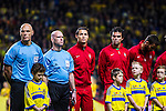 Solna 2013-11-19 Fotboll VM-kval Playoff , Sverige - Portugal :  <br /> Portugal Cristiano Ronaldo under lineup innan matchen<br /> (Photo: Kenta J&ouml;nsson) Keywords:  Sweden Portugal