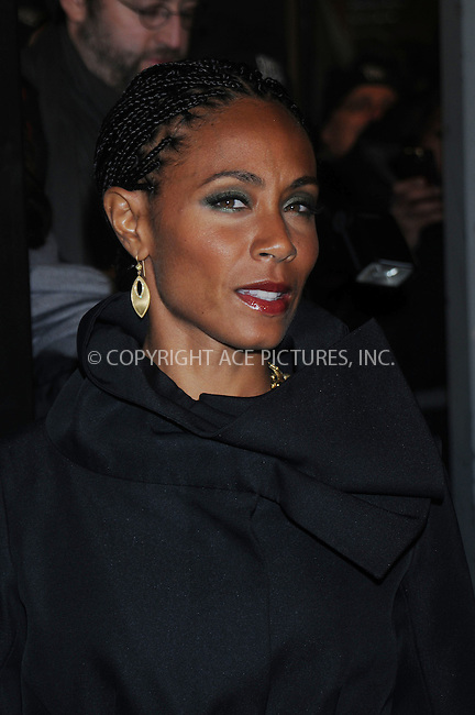 WWW.ACEPIXS.COM . . . . . ....December 9 2008, New York City....Actor Jada Pinkett Smith arriving at the premiere of 'The Day the earth stood still' at AMC Lowes Lincoln Square on December 9 2008 in New York City....Please byline: KRISTIN CALLAHAN - ACEPIXS.COM.. . . . . . ..Ace Pictures, Inc:  ..(646) 769 0430..e-mail: info@acepixs.com..web: http://www.acepixs.com