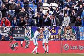 10th February 2019,  Estadio Municipal de Butarque, Leganes, Spain; La Liga football, Leganes versus Real Betis; Youssef En-Nesyri (CD Leganes)  celebrates his goal which made it 1-0