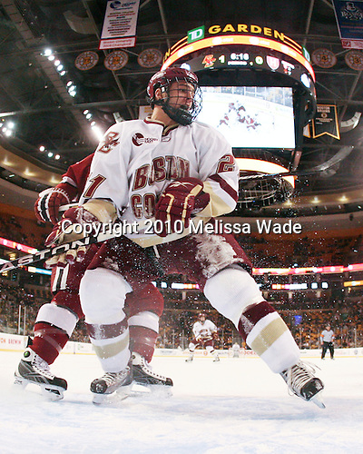 Steven Whitney (BC - 21) - The Boston College Eagles defeated the Harvard University Crimson 6-0 on Monday, February 1, 2010, in the first round of the 2010 Beanpot at the TD Garden in Boston, Massachusetts.