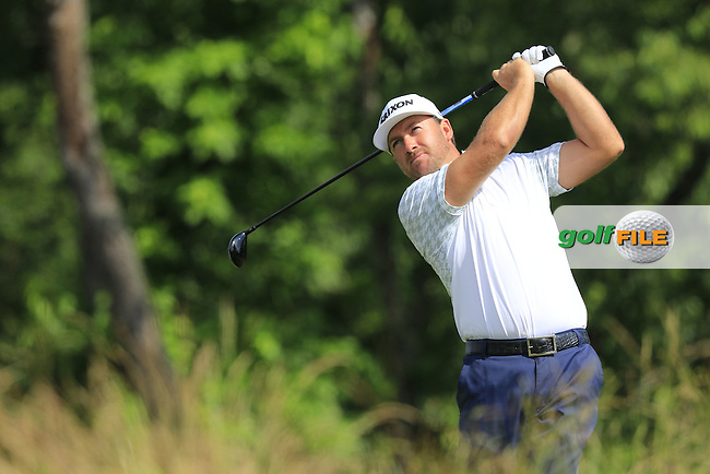 Graeme McDowell (NIR) tees off the 4th tee during Friday's Round 1 of the 2016 U.S. Open Championship held at Oakmont Country Club, Oakmont, Pittsburgh, Pennsylvania, United States of America. 17th June 2016.<br /> Picture: Eoin Clarke | Golffile<br /> <br /> <br /> All photos usage must carry mandatory copyright credit (&copy; Golffile | Eoin Clarke)