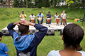 Watching a drumming session organised by Westminster Adult Education Service (WAES), Westbourne Community Festival, Westbourne Green.