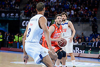 Real Madrid's XXX and Valencia Basket's Sam Van Rosso during Quarter Finals match of 2017 King's Cup at Fernando Buesa Arena in Vitoria, Spain. February 19, 2017. (ALTERPHOTOS/BorjaB.Hojas)
