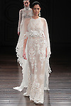 Model walks runway in a Medina bridal gown from the Naeem Khan Bridal Spring 2017 collection at 260 West 36 Street, during New York Bridal Fashion Week Spring Summer 2017 on April 16, 2016.