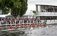 Henley Royal Regatta, Henley on Thames, Oxfordshire, 28 June - 2 July 2017.  Wednesday  15:37:13   28/06/2017  [Mandatory Credit/Intersport Images]<br /> <br /> Rowing, Henley Reach, Henley Royal Regatta.<br /> <br /> The Temple Challenge Cup<br />  Cornell University 'B', U.S.A.