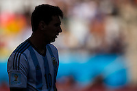 Silhouette of Lionel Messi of Argentina