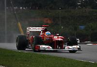 SEPANG, MALASIA, 25 DE MARCO 2012 - F1 - GP MALASIA - <br /> O piloto espanhol Fernando Alonso, da Ferrari, durante o GP da Malásia, no circuito de Kuala Lumpur, em Sepang, neste domingo, 26. (FOTO: THOMAZ MELZER / PIXATHLON /  BRAZIL PHOTO PRESS).