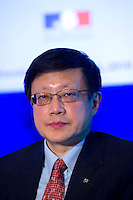 LIAN Ping, Deputy Director-General, Development and Research Department, China Banking Association, Chief Economist, Bank of Communications, at Shanghai / Paris Europlace Financial Forum, in Shanghai, China, on December 1, 2010. Photo by Lucas Schifres/Pictobank