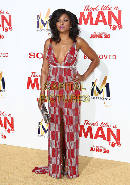 HOLLYWOOD, CA - JUNE 9: Taraji P. Henson  attends the &quot;Think Like a Man Too&quot; Premiere at TCL Theatre in Hollywood, California on June 9, 2014.   <br /> CAP/MPI/mpi99<br /> &copy;mpi99/MediaPunch/Capital Pictures