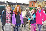 Caenat Moore Headford, Grace, Theresa and Hannah Downey Rathmore admiring the horses at the Rathmore fair on Sunday