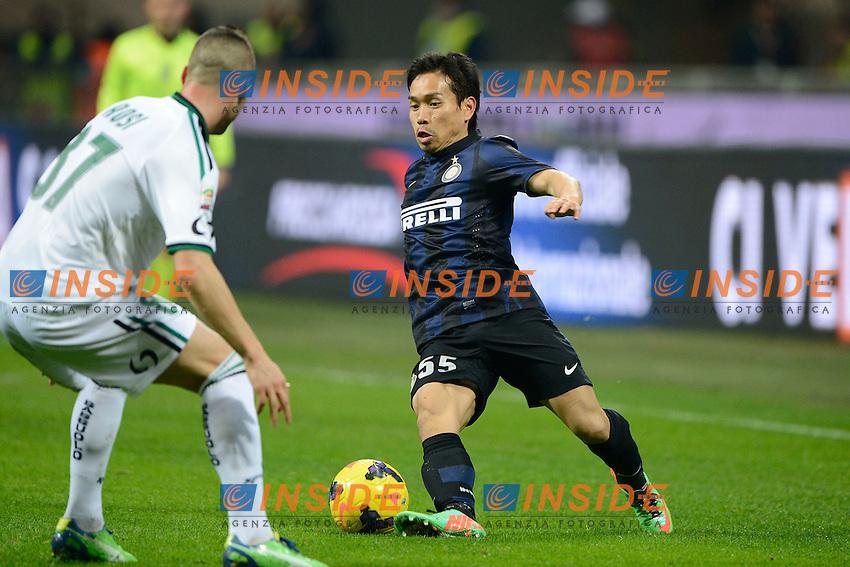 Yuto Nagatomo Inter<br /> Milano 09-02-2014 Stadio Giuseppe Meazza - Football 2013/2014 Serie A. Inter - Sassuolo Foto Giuseppe Celeste / Insidefoto