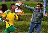 Sebastian Valenzuela de Nari&ldquo;o celebra un gol durante un partido de f?tbol categor&Atilde;a B contra Boyaca en finales nacionales de Sup&raquo;rate Intercolegiados en Bogot&sum; el 3 de noviembre de 2014. Nari&ldquo;o gano 1-0.<br /> Foto: Daniel Jayo/Archivolatino para Sup&raquo;rate Intercolegiados, Coldeportes<br /> <br /> COPYRIGHT: Sup&raquo;rate, Coldeportes. <br /> Prohibida su venta y su uso comercial sin autorizaci&euro;n