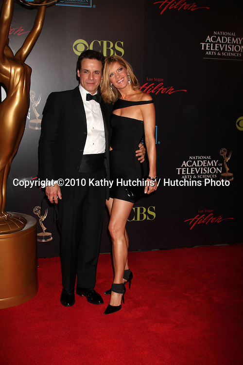 Christian LeBlanc & Michelle Stafford.arrives at the 2010 Daytime Emmy Awards .Las Vegas Hilton Hotel & Casino.Las Vegas, NV.June 27, 2010.©2010 Kathy Hutchins / Hutchins Photo....