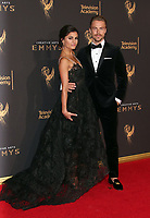 LOS ANGELES, CA - SEPTEMBER 09: Derek Hough, Hayley Erbert, at the 2017 Creative Arts Emmy Awards at Microsoft Theater on September 9, 2017 in Los Angeles, California. <br /> CAP/MPIFS<br /> &copy;MPIFS/Capital Pictures
