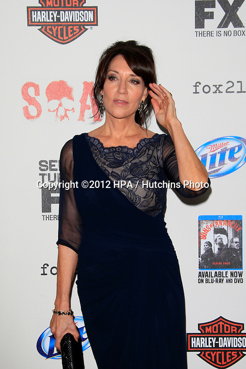 """LOS ANGELES - SEP 8:  Katey Sagal arrives at the """"Sons of Anarchy"""" Season 5 Premiere Screening at Village Theater on September 8, 2012 in Westwood, CA"""