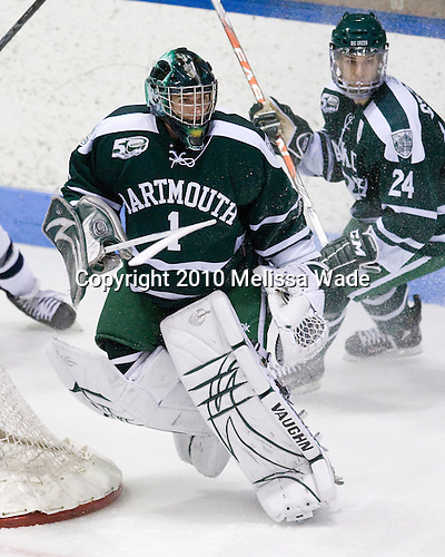Jody O'Neill (Dartmouth - 1), Evan Stephens (Dartmouth - 24) - The Yale University Bulldogs defeated the Dartmouth Big Green 7-3 in the Ivy Shootout championship on Saturday, October 30, 2010 at Ingalls Rink in New Haven, Connecticut.