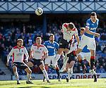 Haris Vuckic rises high to score for Rangers
