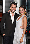HOLLYWOOD, CA - OCTOBER 16: Actor Juan Pablo Espinosa (L) and model Julieth Restrepo attend the premiere of Warner Bros. Pictures' 'Geostorm' at the TCL Chinese Theatre on October 16, 2017 in Hollywood, California.