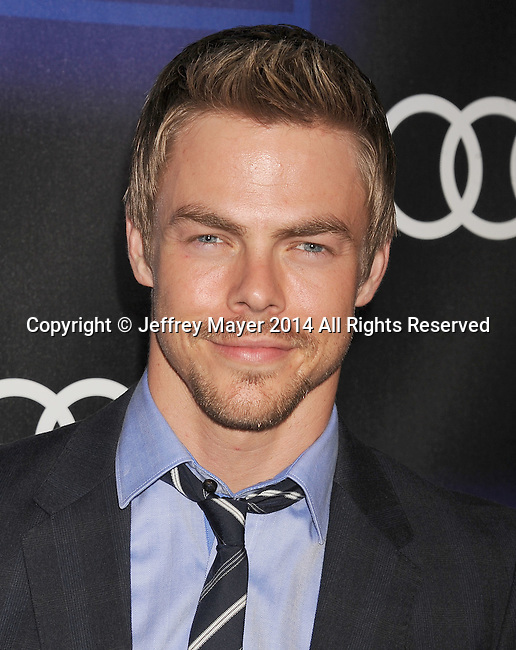 LOS ANGELES, CA- AUGUST 21: TV personality/dancer Derek Hough arrives at the Audi Emmy Week Celebration at Cecconi's Restaurant on August 21, 2014 in Los Angeles, California.