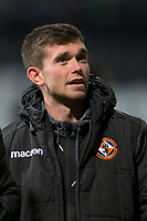 8th November 2019; Dens Park, Dundee, Scotland; Scottish Championship Football, Dundee Football Club versus Dundee United; Adrian Sporle of Dundee United inspects the pitch before the match - Editorial Use