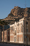 Santa Barbara Castle and City Buildings in Alicante, Spain