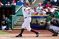Brent Seifert (4) of the Missouri State Bears watches his ball go foul during a game against the Wichita State Shockers on April 9, 2011 at Hammons Field in Springfield, Missouri.  Photo By David Welker/Four Seam Images