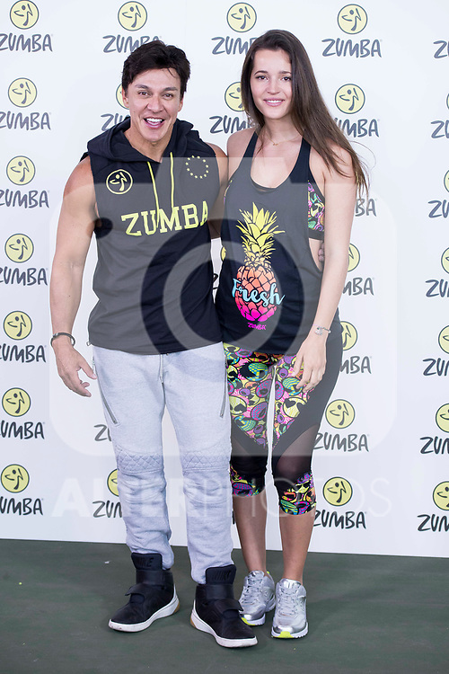 Beto Perez and Malena Costa during the presentation of Zumba Academy at Momo Caja Magica in Madrid, Spain. March 19, 2017. (ALTERPHOTOS/BorjaB.Hojas)
