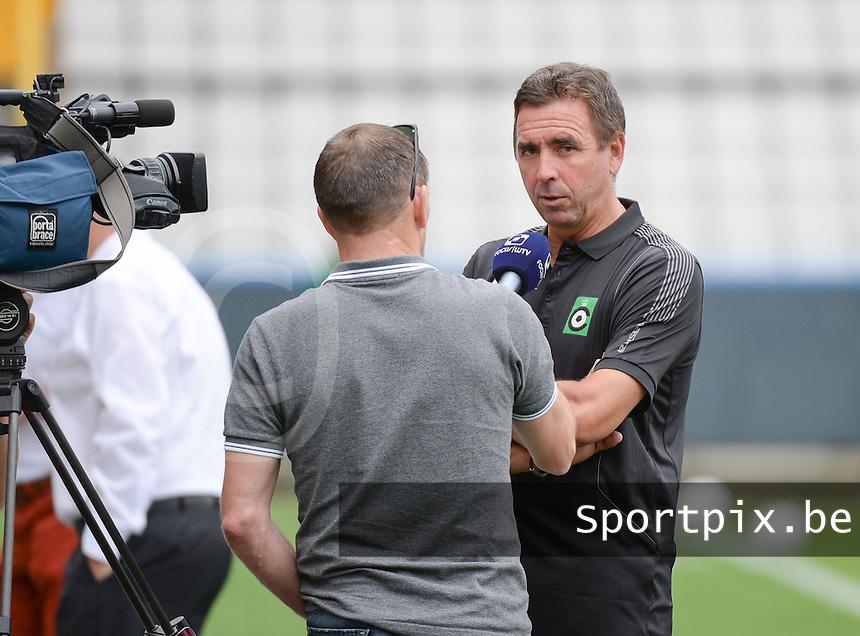 Cercle Brugge : coach Lorenzo Staelens<br /> foto VDB / BART VANDENBROUCKE