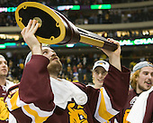 Jake Hendrickson (Duluth - 15) - The University of Minnesota-Duluth Bulldogs celebrated their 2011 D1 National Championship win on Saturday, April 9, 2011, at the Xcel Energy Center in St. Paul, Minnesota.
