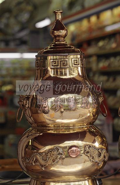 Asie/Singapour/Singapour: Chinatown - Machine à thé