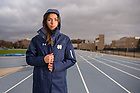 November 16, 2017; ND track star, Jessica Harris featured in Strong of Heart. (Photo by Barbara Johnston/University of Notre Dame)