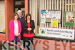 North and East: Pictured outside the Church St. office in Listowel are: l-r: Elaine Kennedy CSP Co-ordinator, Dave Fitzgibbon Community Development Co-ordinator and Dee Keogh Equality Co-ordinator.