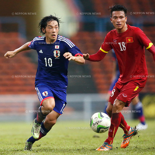 Shoya Nakajima (JPN), MARCH 29, 2015 - Football / Soccer : AFC U-23 Championship 2016 Qualification Group I match between U-22 Japan 2-0 U-22 Vietnam at Shah Alam Stadium in Shah Alam, Malaysia. (Photo by Sho Tamura/AFLO SPORT)