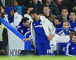 An unhappy Diego Costa walks down the tunnel before the end of the match<br /> <br /> Barclays Premier League- Chelsea vs Sunderland - Stamford Bridge - England - 19th December 2015 - Picture David Klein/Sportimage