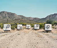 An archery range Saguaro National Park in Arizona, April 21, 2015.<br /> <br /> Photo by Matt Nager