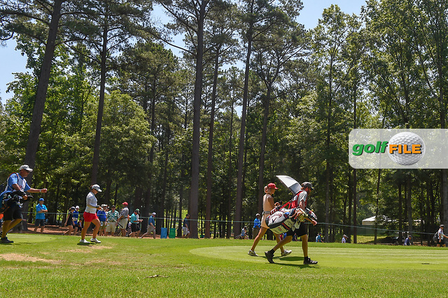 Michelle Wie (USA) and Sei Young Kim (KOR) head down 3 during round 4 of the U.S. Women's Open Championship, Shoal Creek Country Club, at Birmingham, Alabama, USA. 6/3/2018.<br /> Picture: Golffile | Ken Murray<br /> <br /> All photo usage must carry mandatory copyright credit (© Golffile | Ken Murray)